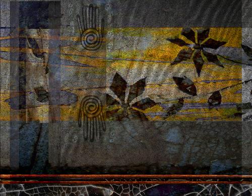 """Handscape"" digital painting © Elsah Cort"