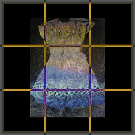 """Dyeing Frida"" digital collage © Elsah Cort"