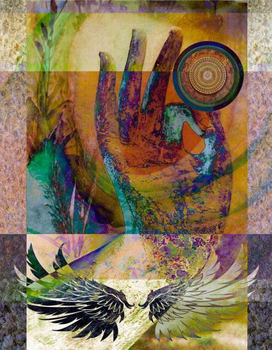 """HandMade"" digital collage © Elsah Cort"