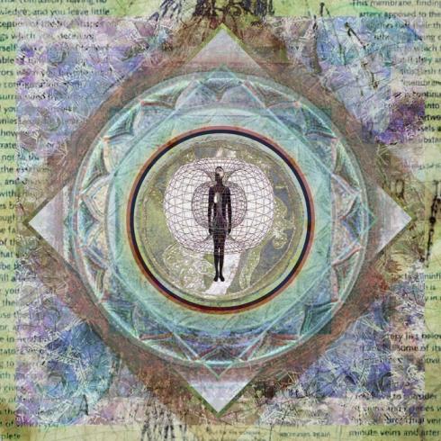 """Follow the Path of Heart"" digital collage mandala © Elsah Cort"